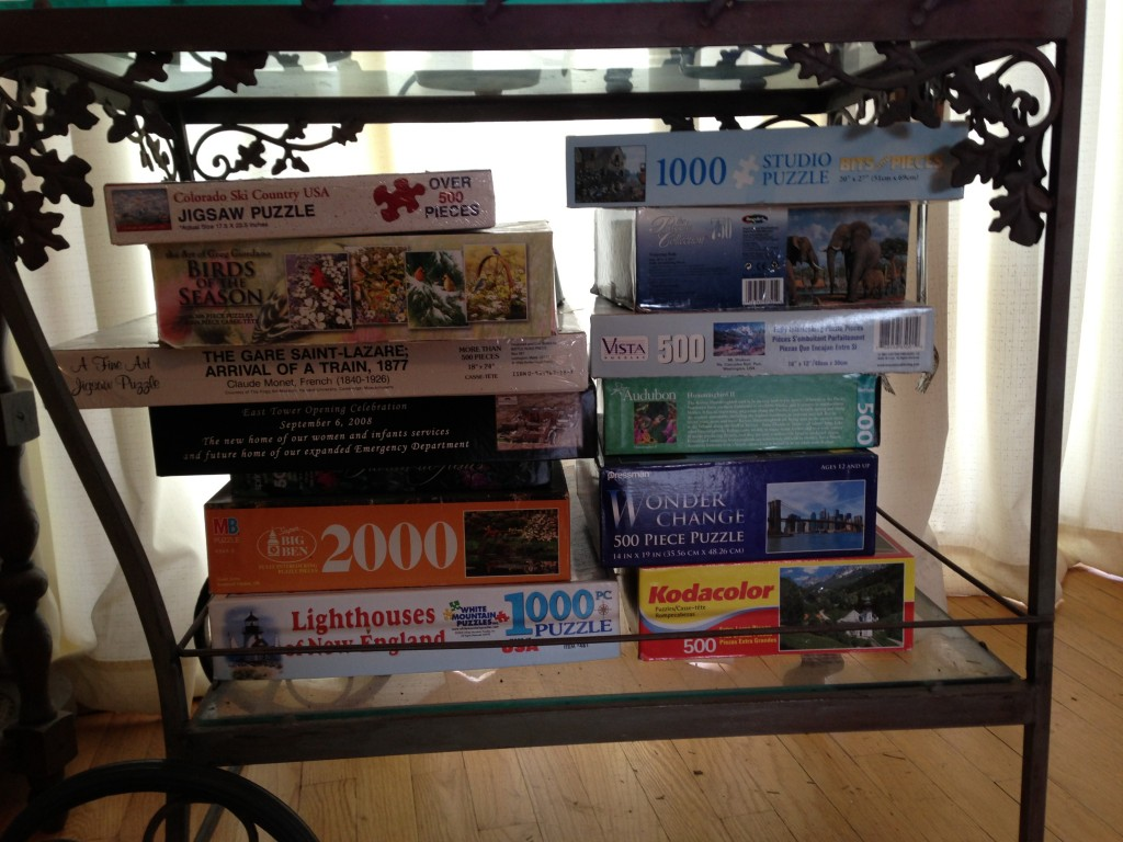 Stack of puzzles