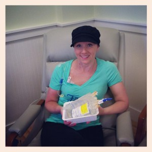 Christie at her 4th chemo treatment