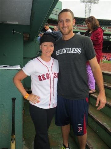 Christie with Red Sox 3rd baseman Will Middlebrooks (who played for the Sea Dogs a few years back)