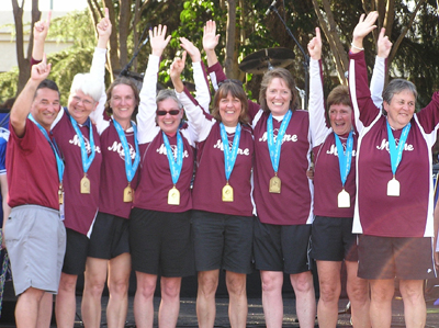 """Hot Flashes"" Gold Medal Winners 2009 National Senior Games"