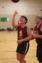 Women over 50 basketball team Maine