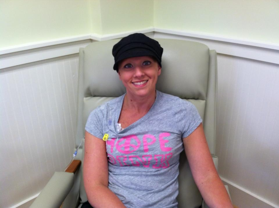 Christie Cantara's last breast cancer chemotherapy treatment