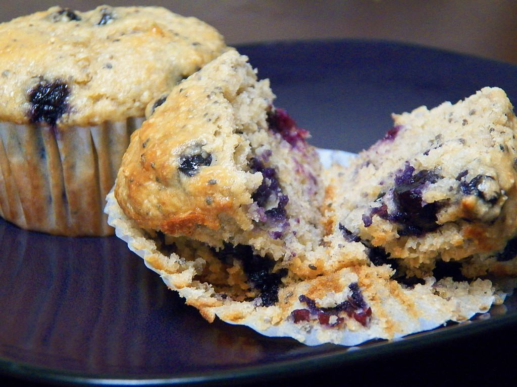 "Picture of blueberry lemon ""long morning"" muffins"
