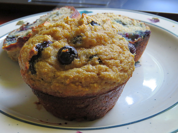 Robin Follette's blueberry muffins