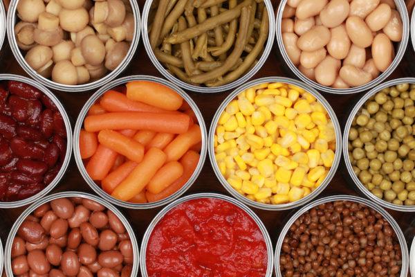 Canned veggies/salt