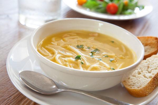 Chicken noodle soup/salt