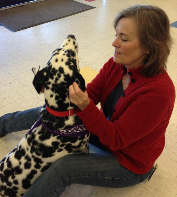 Diane with dalmation