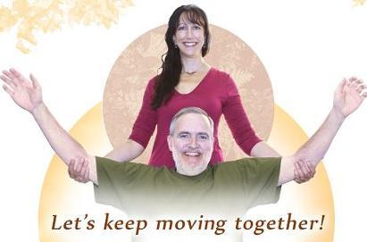 Elizabeth Burd with yoga participant