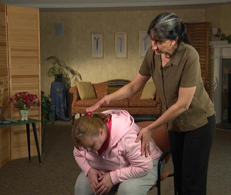 Elizabeth Burd teaching yoga
