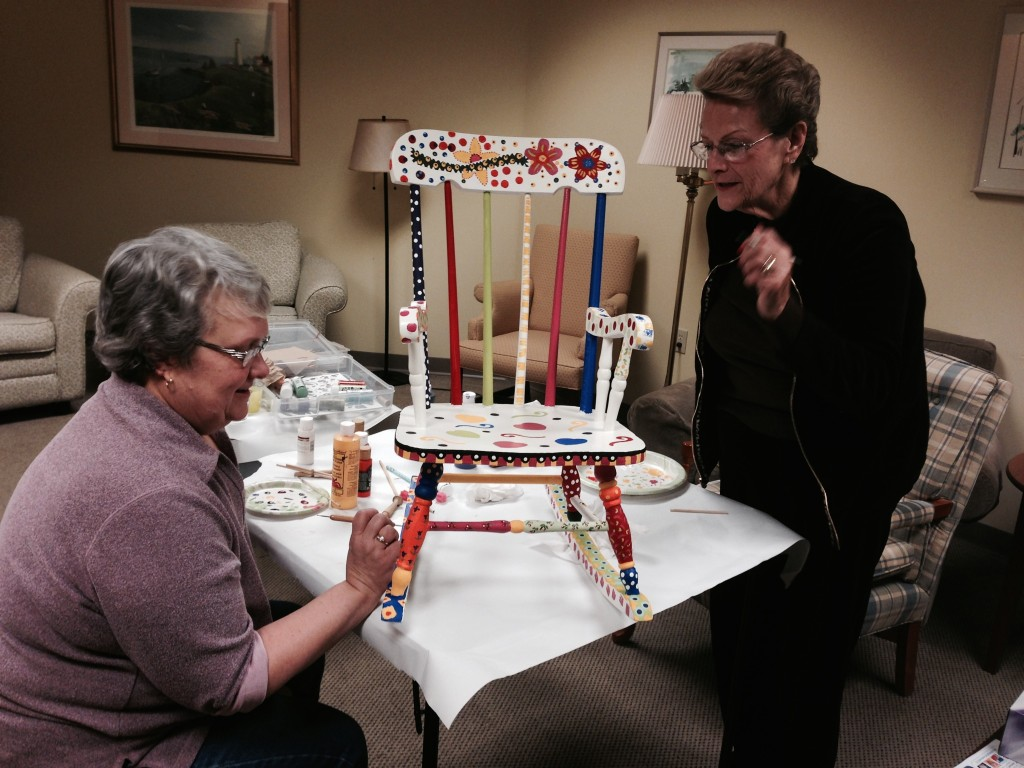 Marcia and Pat Painting Chair