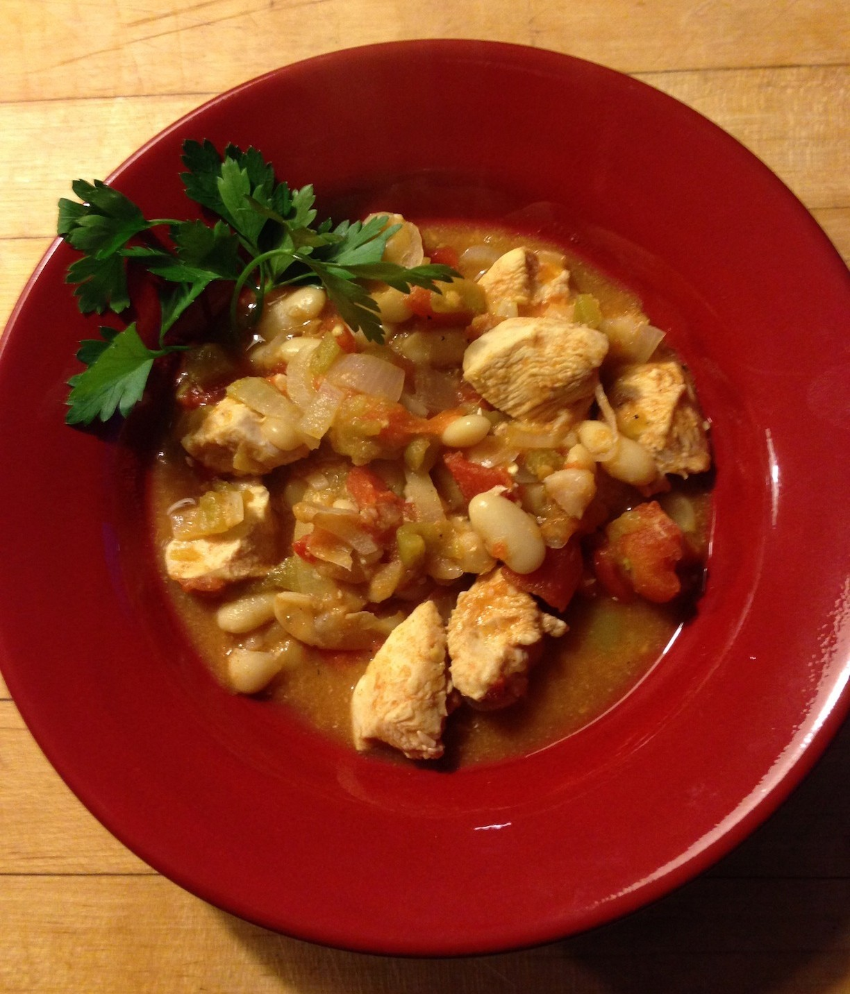 Chicken with white beans
