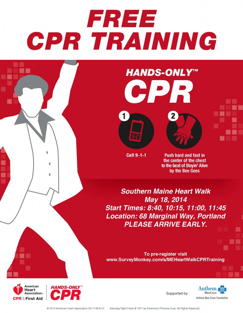 Hands Only CPR Flyer-Maine