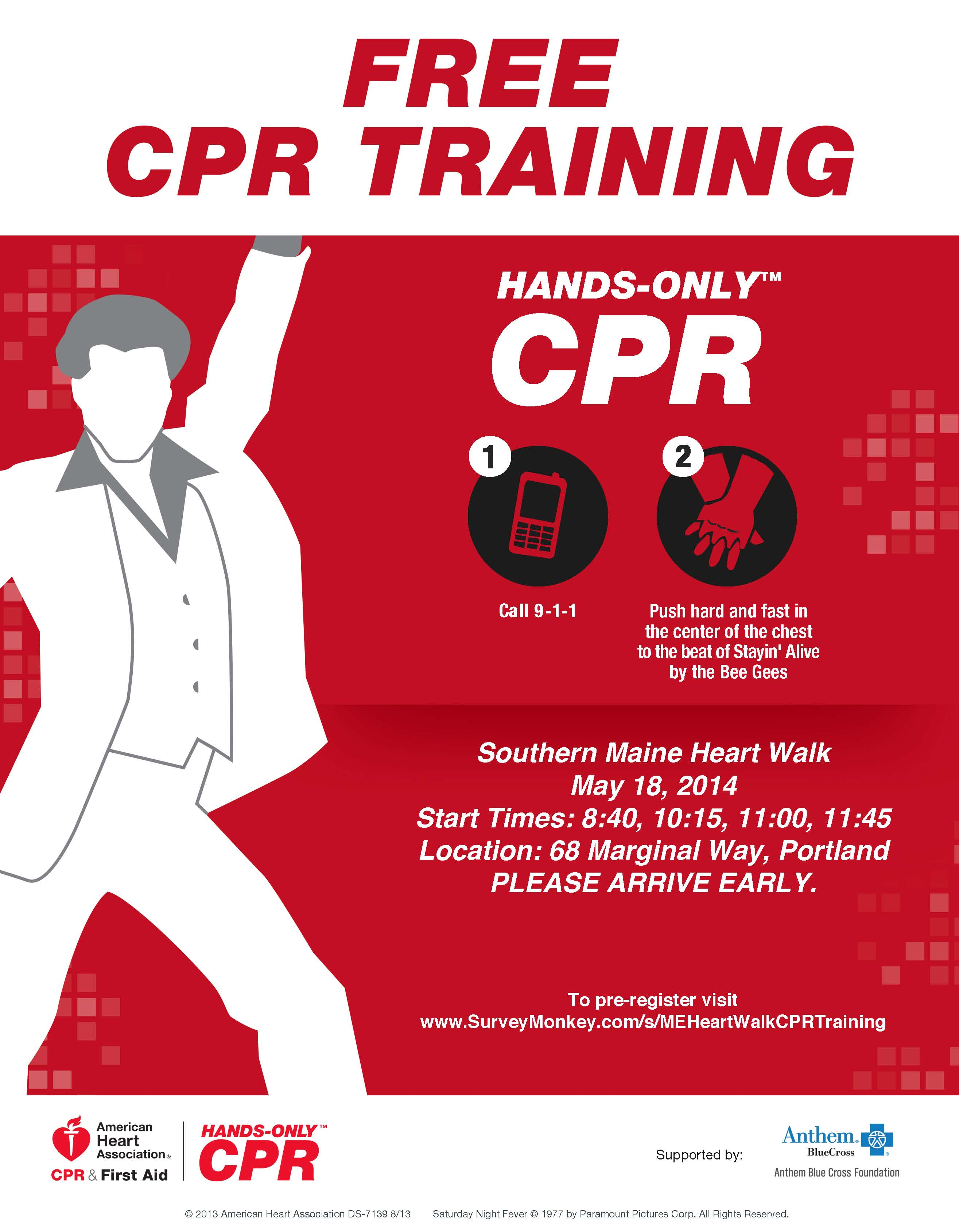 learn how to do hands only cpr to the beat of stayin alive