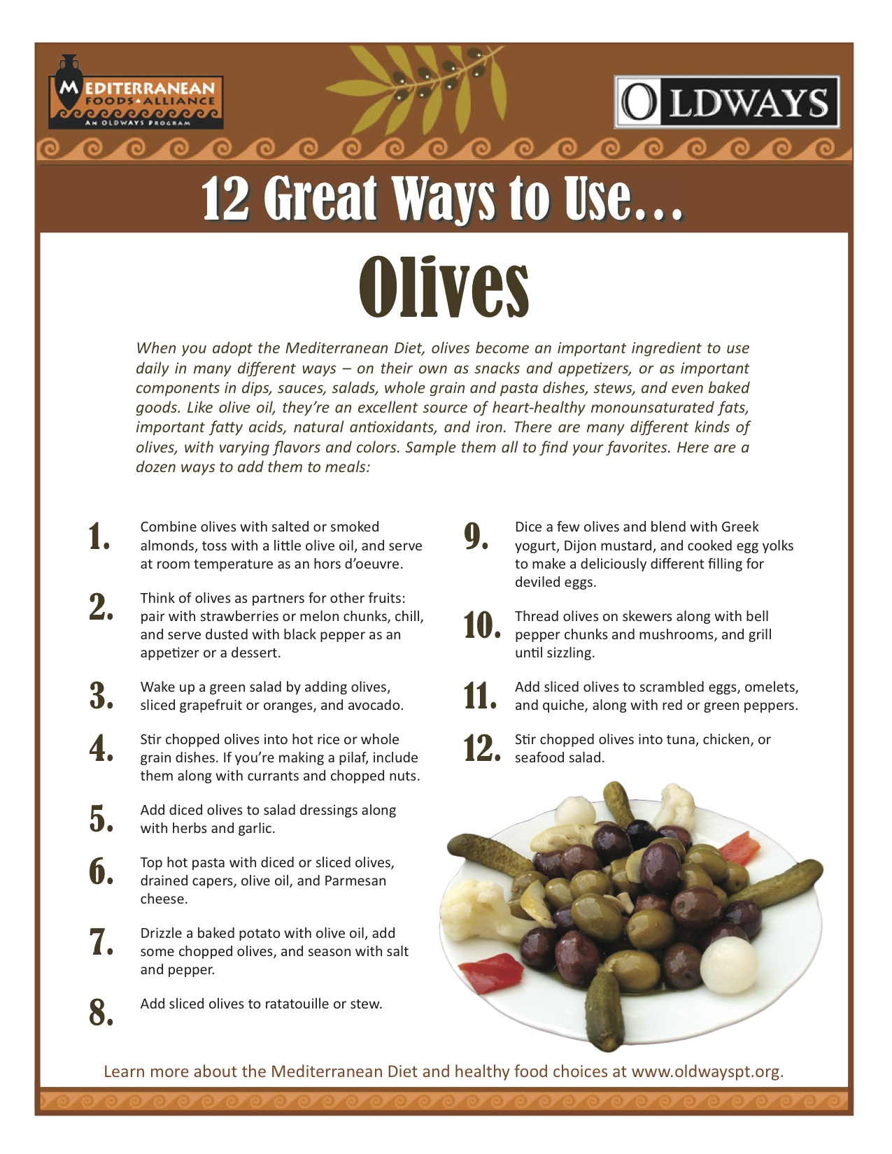 List of things you can do with olives