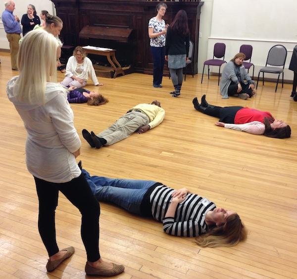 People lying on the floor