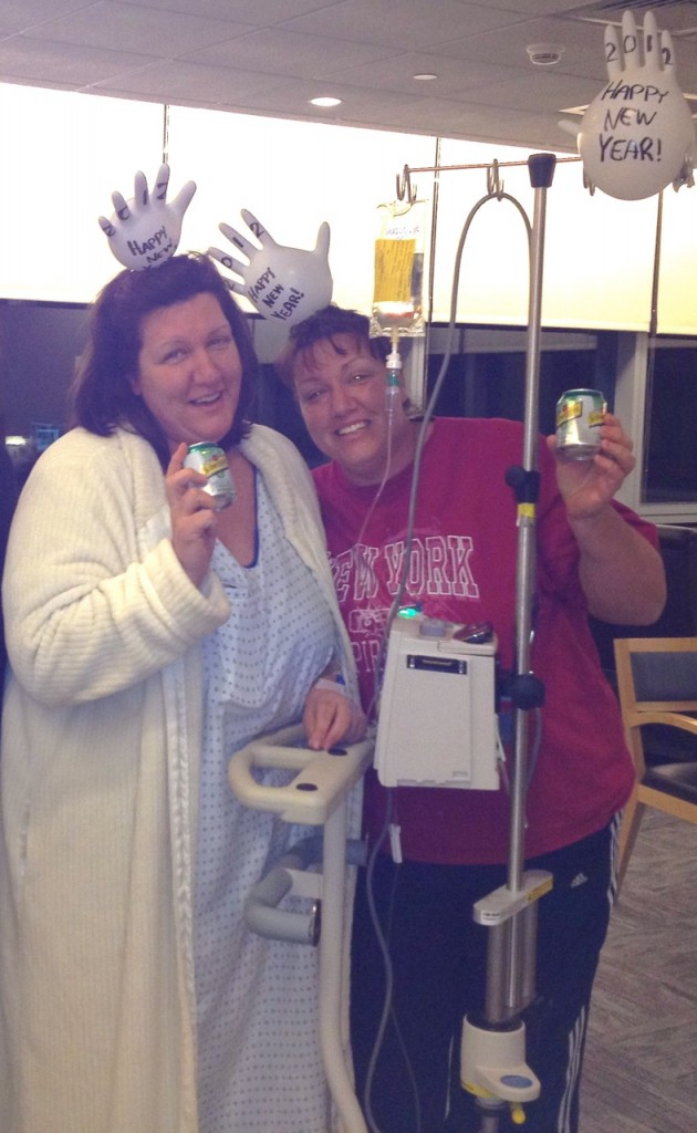 Leni and Lita in the hospital