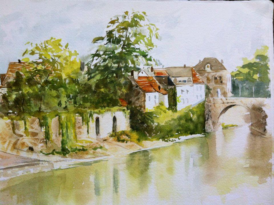 Montignac, France - watercolor