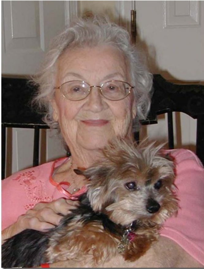 Barbara Stetson and her Yorkie