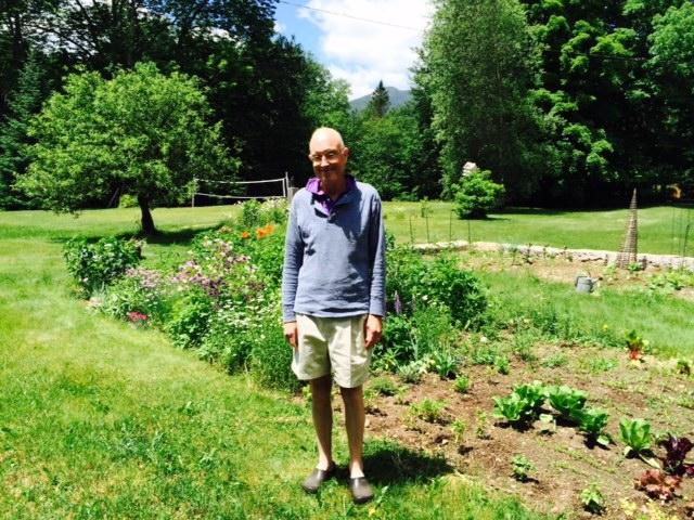 Joe Semmes in his garden