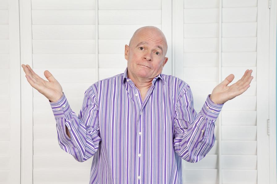 Man shrugging shoulders