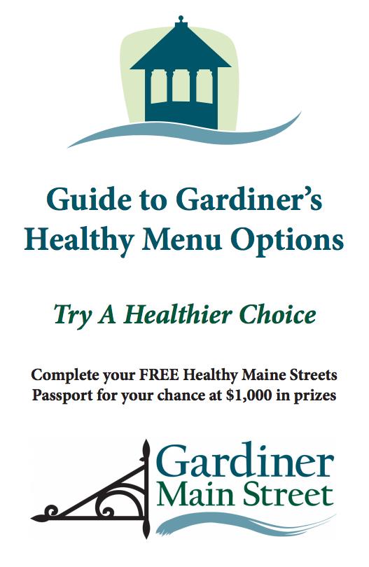 Gardiner Healthy Menu Options brochure cover