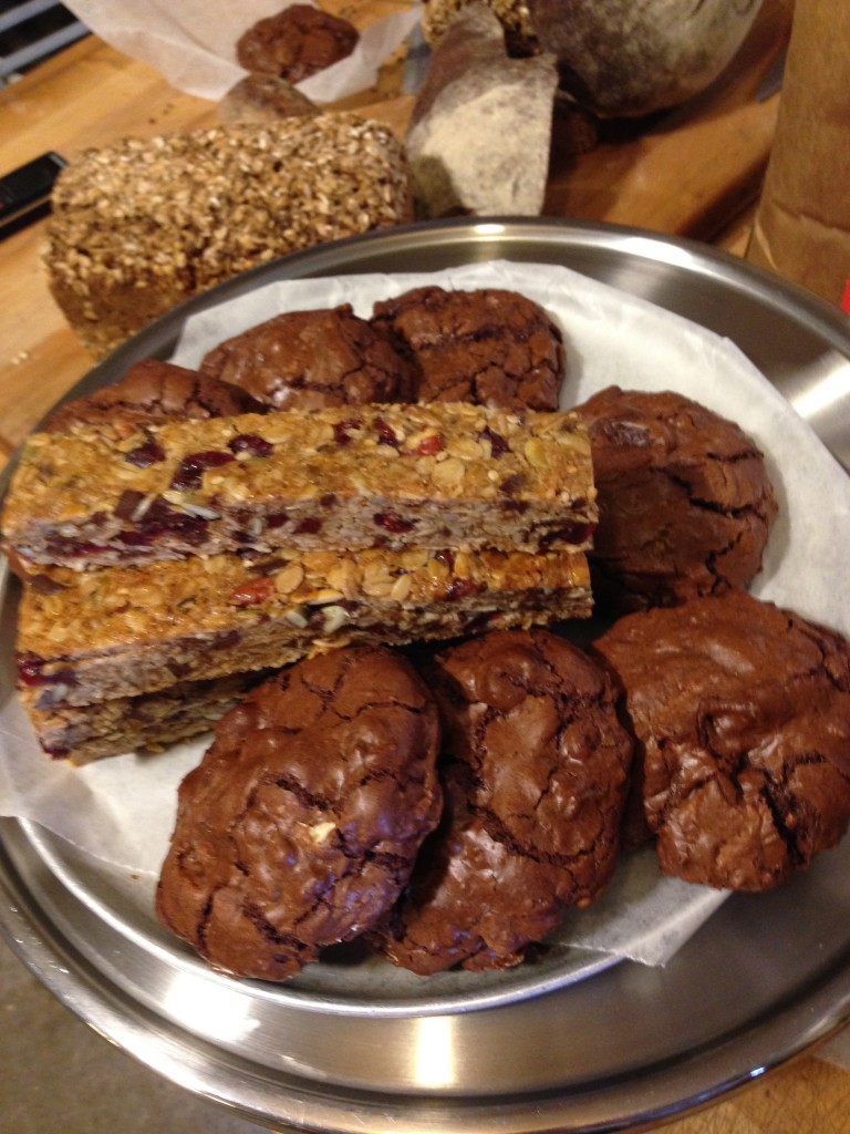 Bars and chocolate rye cookies