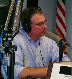 Mark Bushey on the radio