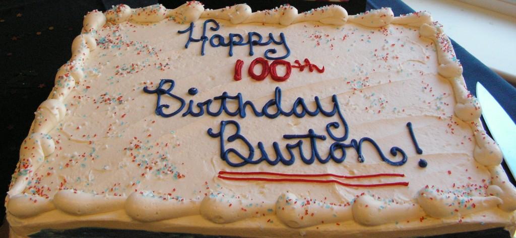 Burton Curtis birthday cake