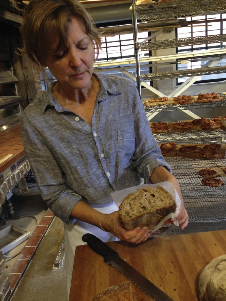 Alison with rye/flax bread