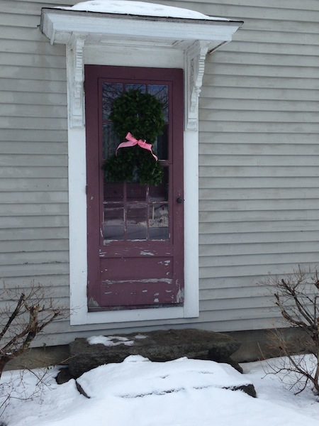 My front door with wreath