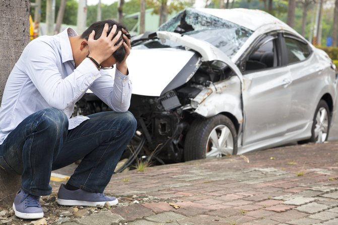 Man involved in car accident