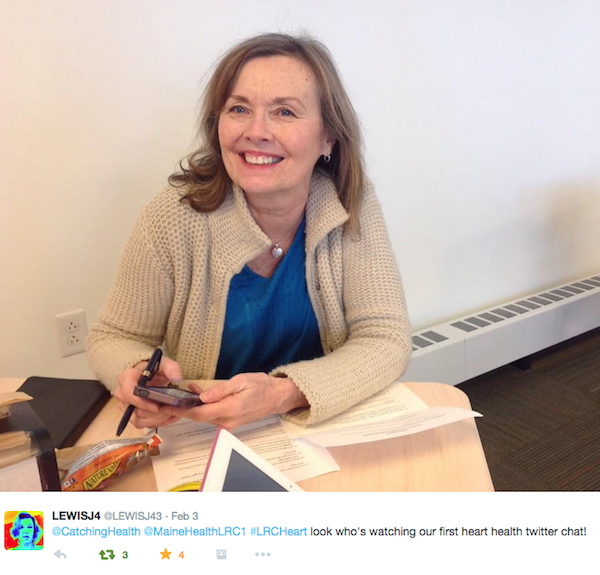 Diane at the Twitter chat