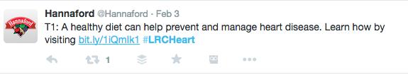 Hannaford dietitian tweet