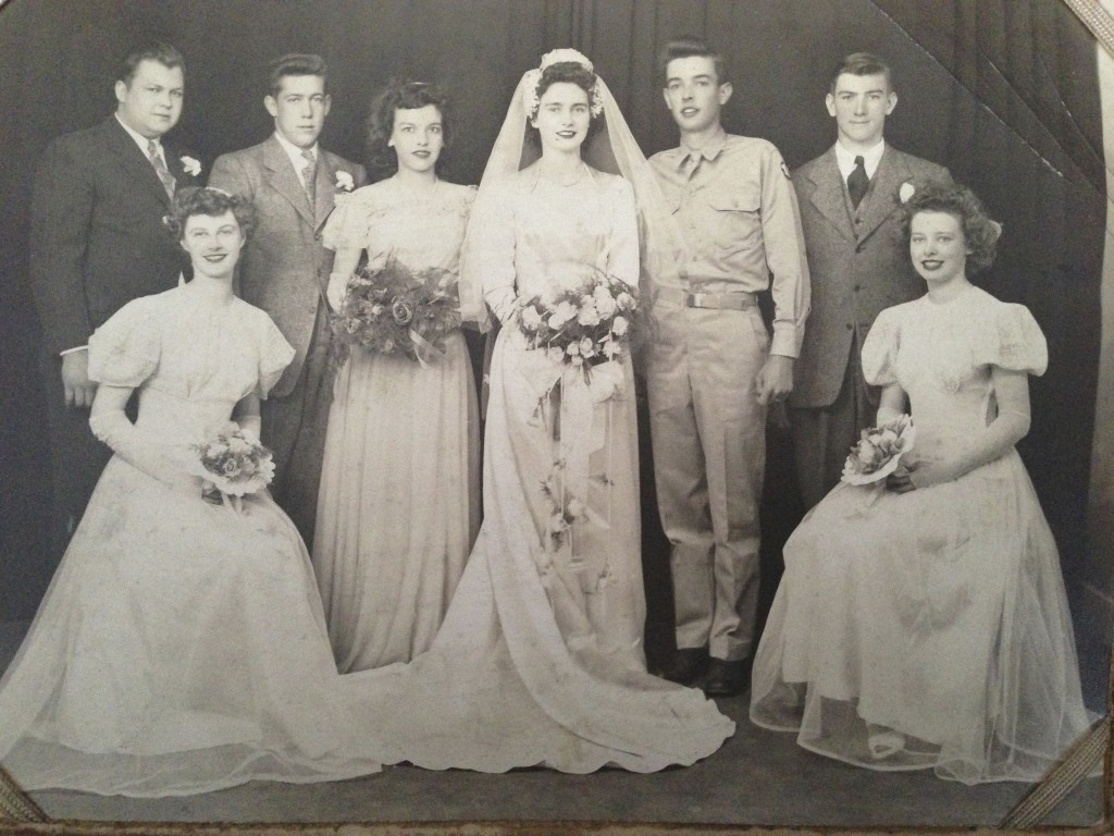 Picture of my parents' wedding party