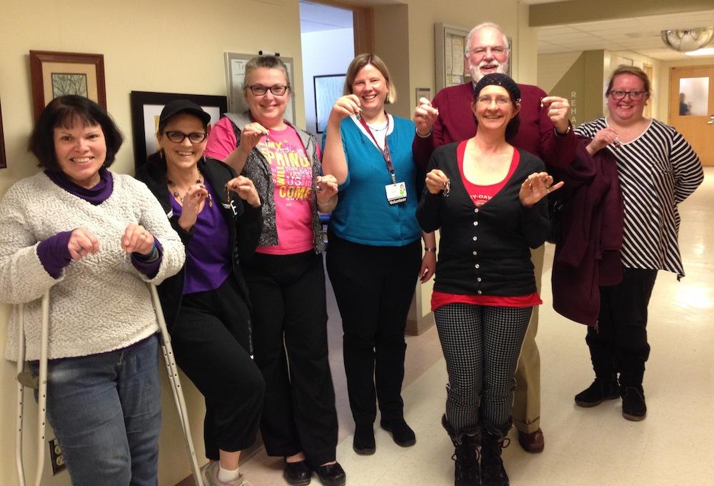 Brain injury support group members