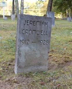 Jeremiah Cromwell gravestone