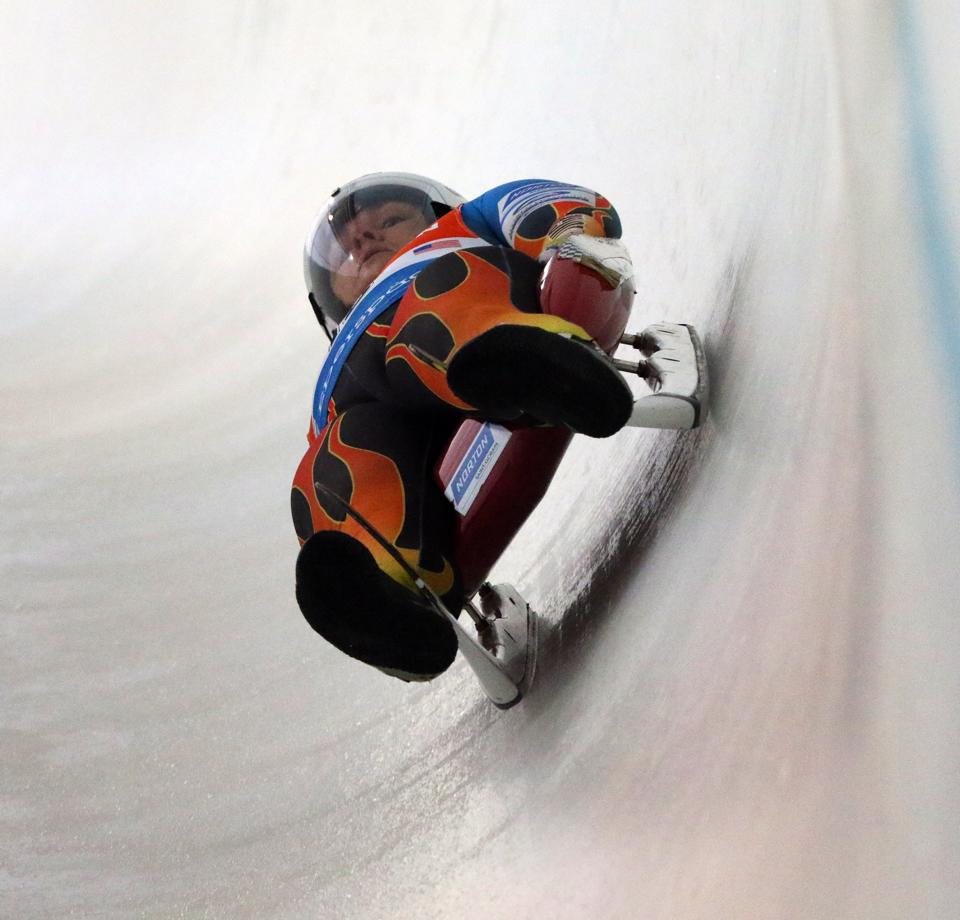 Julia Clukey on luge