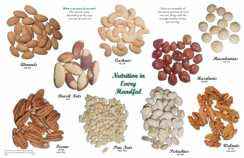 Nuts, healthy food, poster