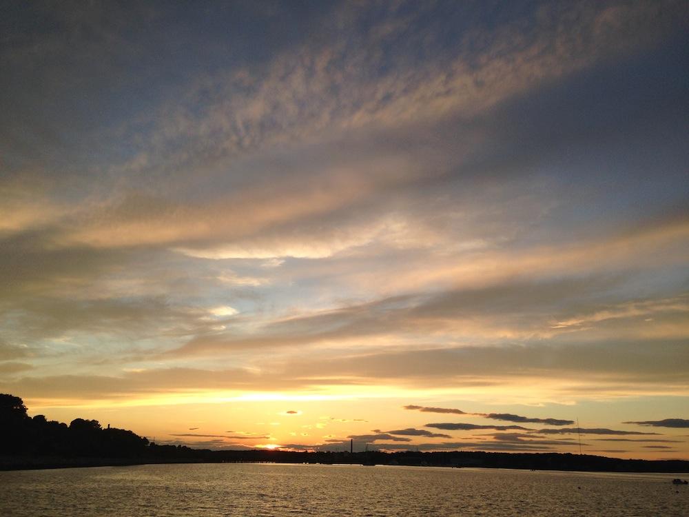 Sunset on the promenade
