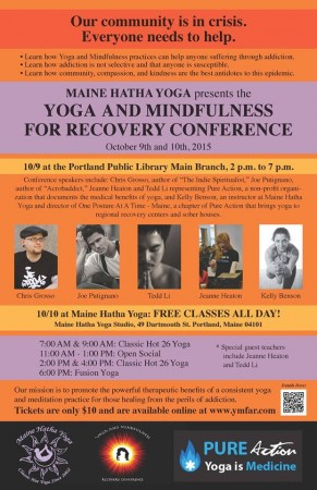 Yoga conference flyer