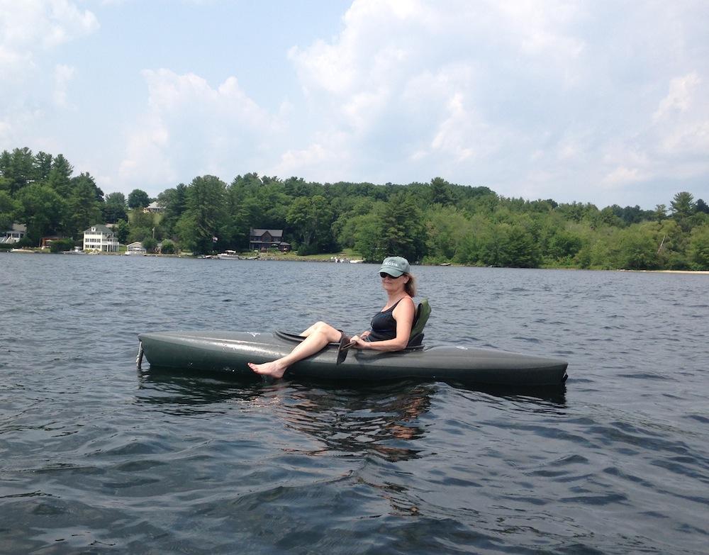 Diane in kayak