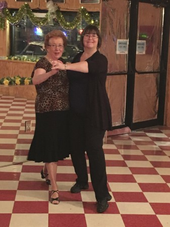 Joan Overton and Deb Roy