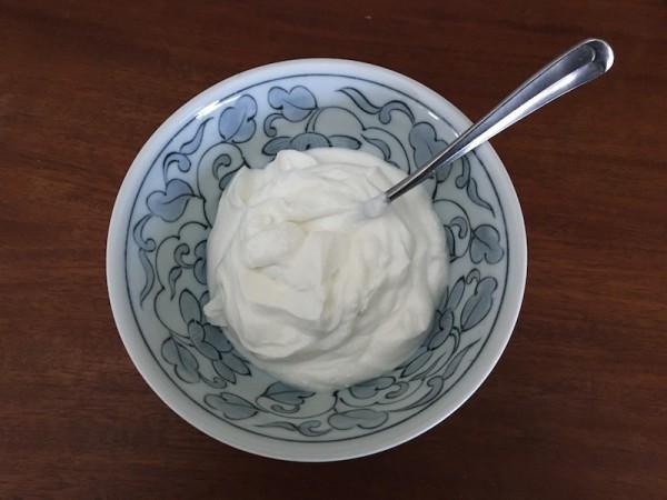 Dish of Greek yogurt