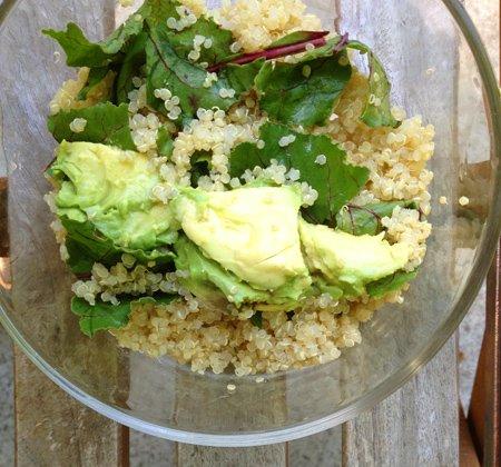 Healthy avocado with quinoa