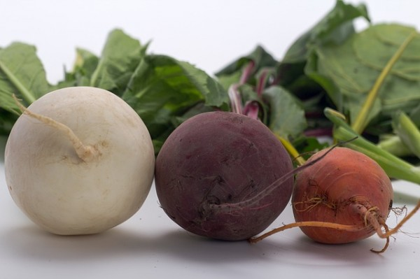Beets, a root vegetable
