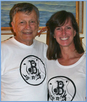 Alison Bramhall and her father