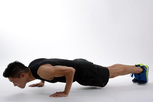 Man doing push ups