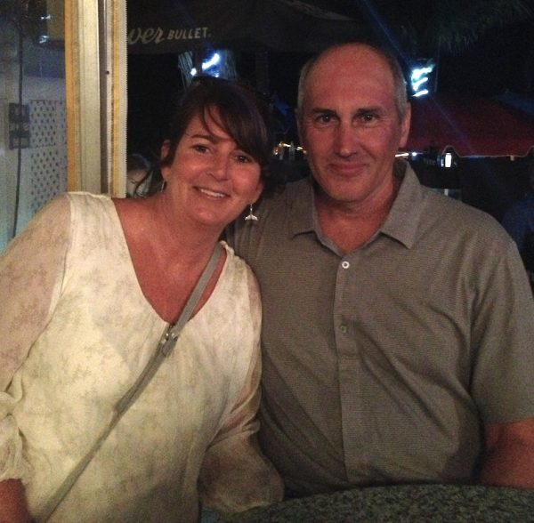 Lisa Burns and her husband Jay, who has HHT