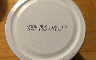 Use by date on can