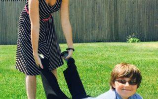 Celeste and Miles Zelasko, who have Lyme Disease